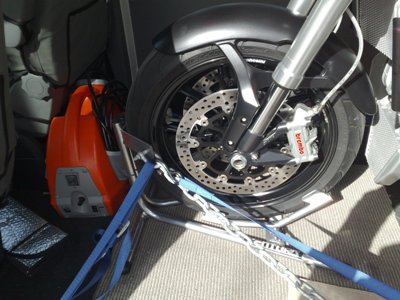 Motorcycle   Rack on Motorcycle Mania Tyre Down Tie Down System